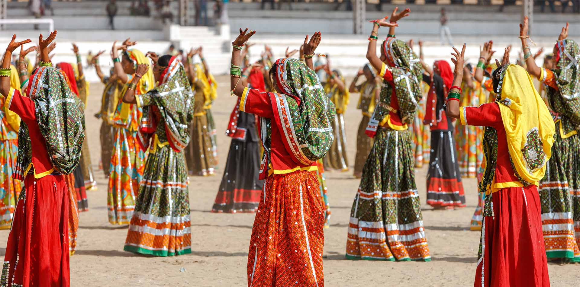 Indian girls in colorful clothing