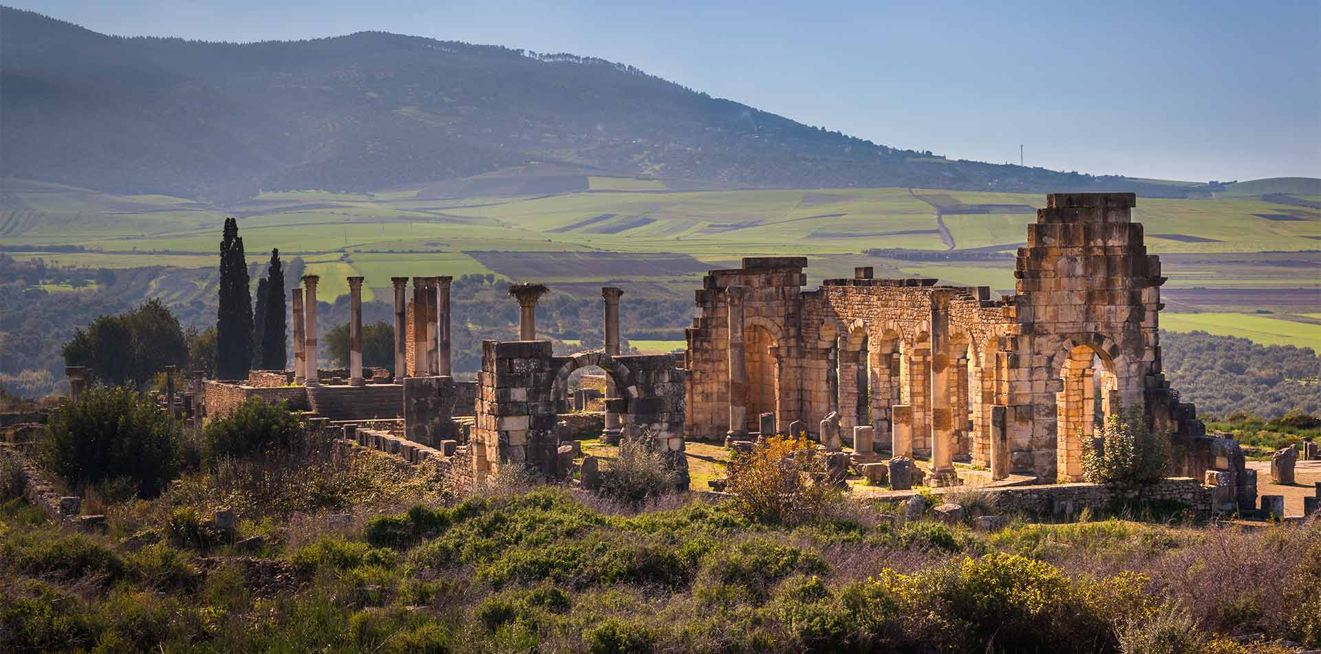 Roman ruins at Volubilis Morocco