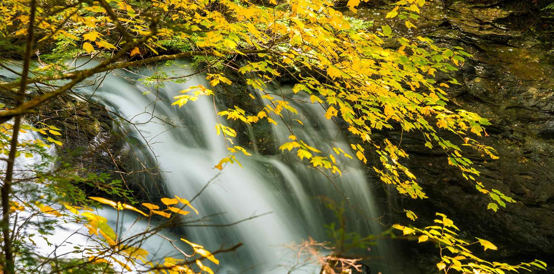 Bingham Falls in Stowe Vermont