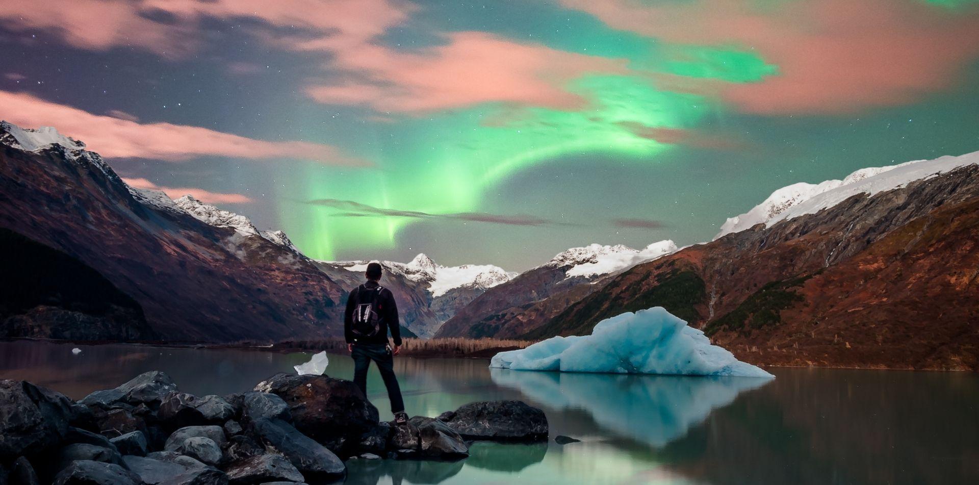Alaska Northern Lights Dog Sled