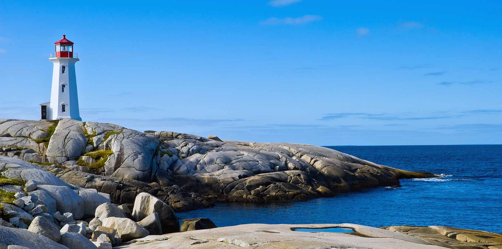 Lighthouse on the Coast of Nova Scotia