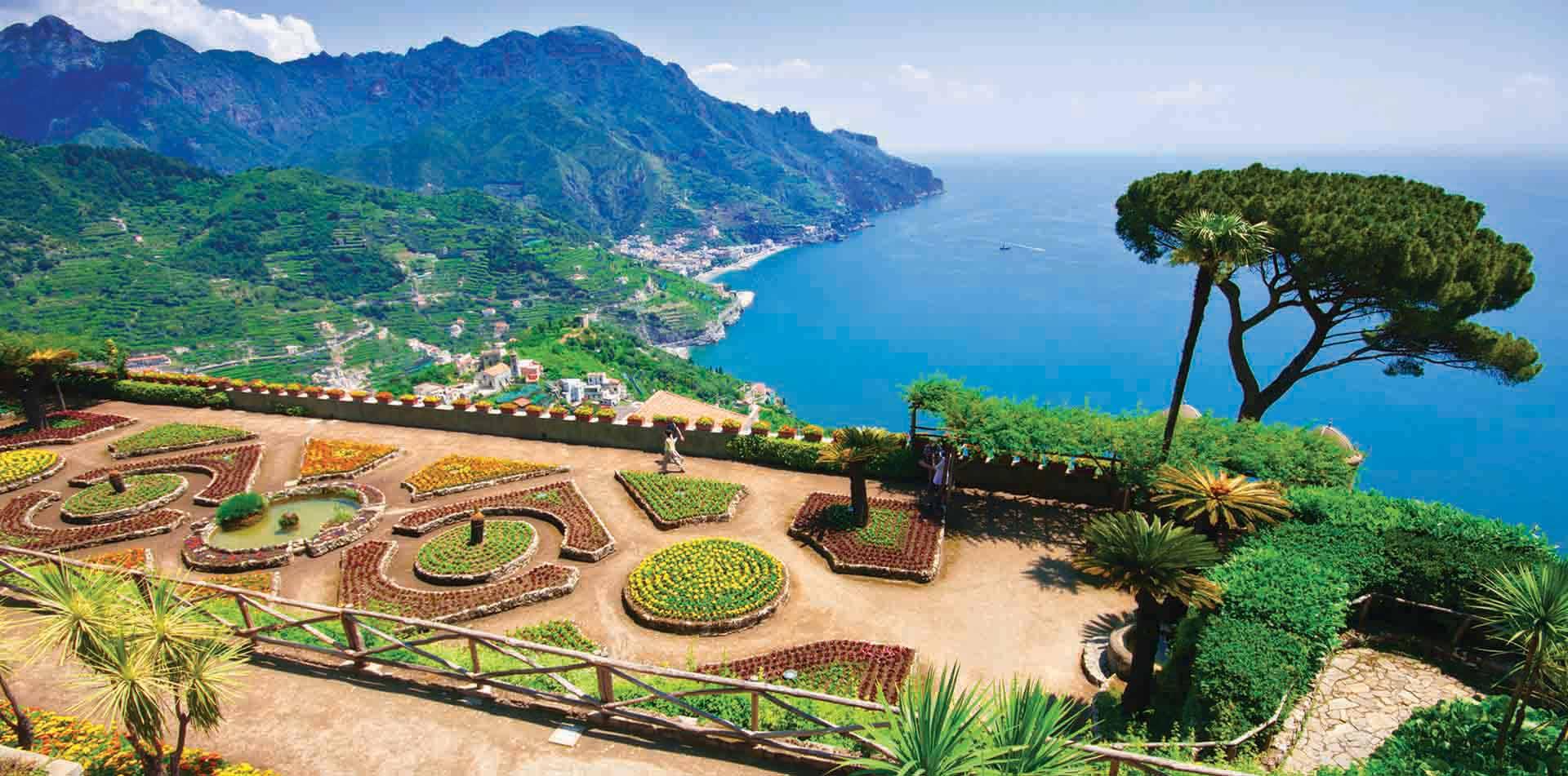 Gardens Overlooking Amalfi Coast, Italy