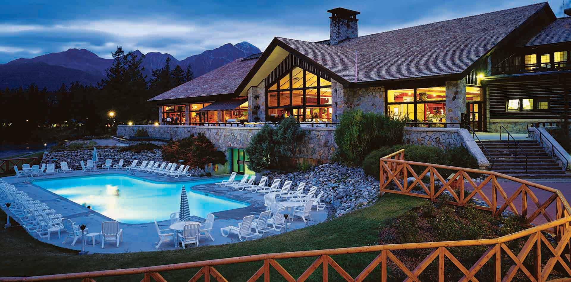 Fairmont Jasper Park Lodge Exterior, Canadian Rockies