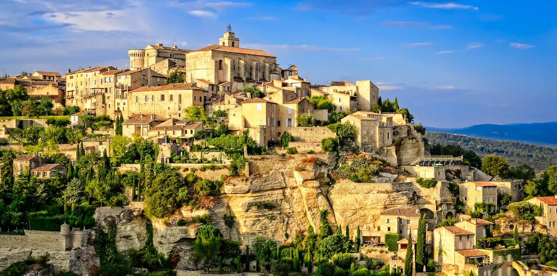 Medieval Village at Sunset in Provence, France