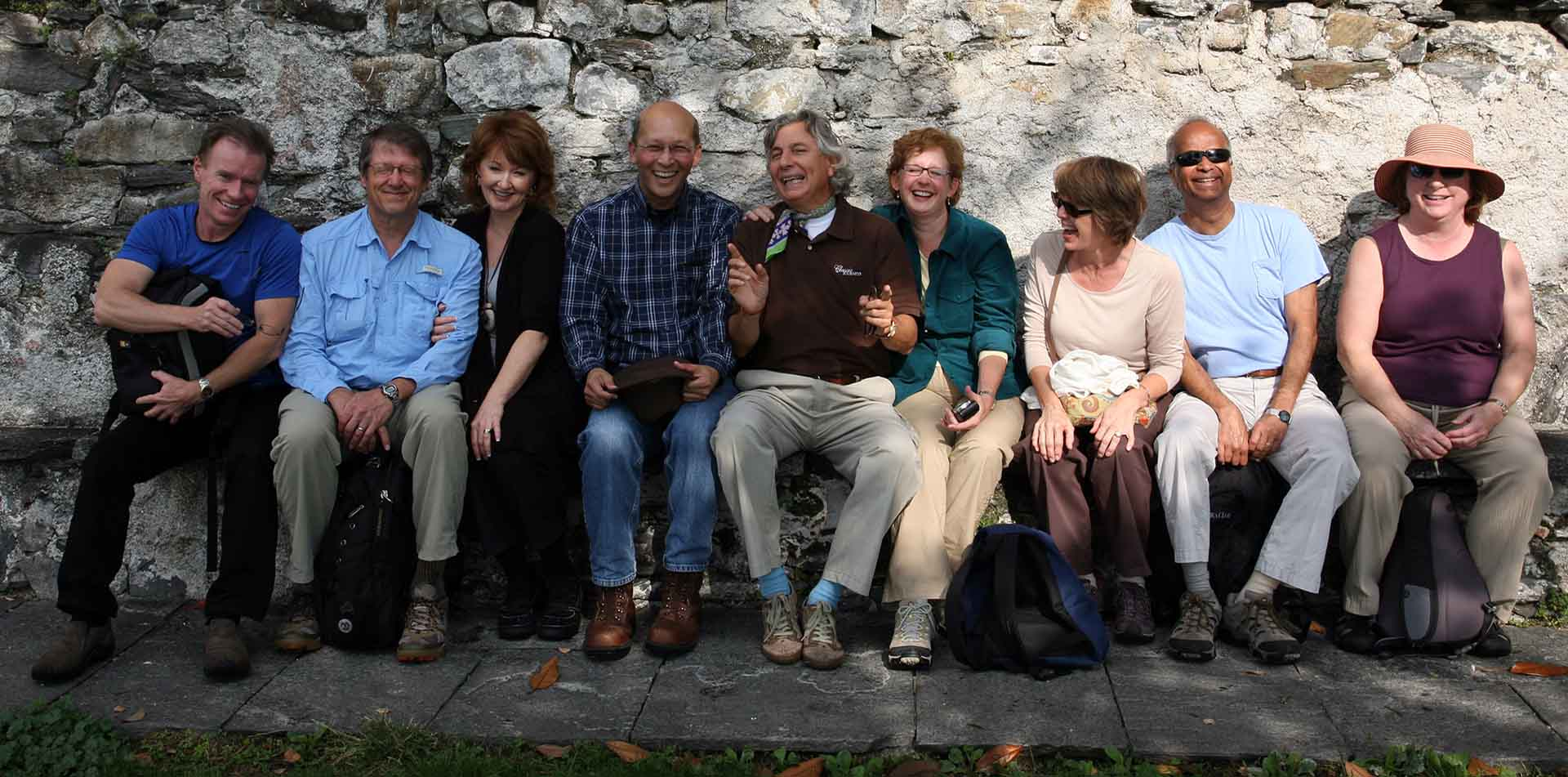 Classic Journeys Guide Giampiero with Group of Travelers