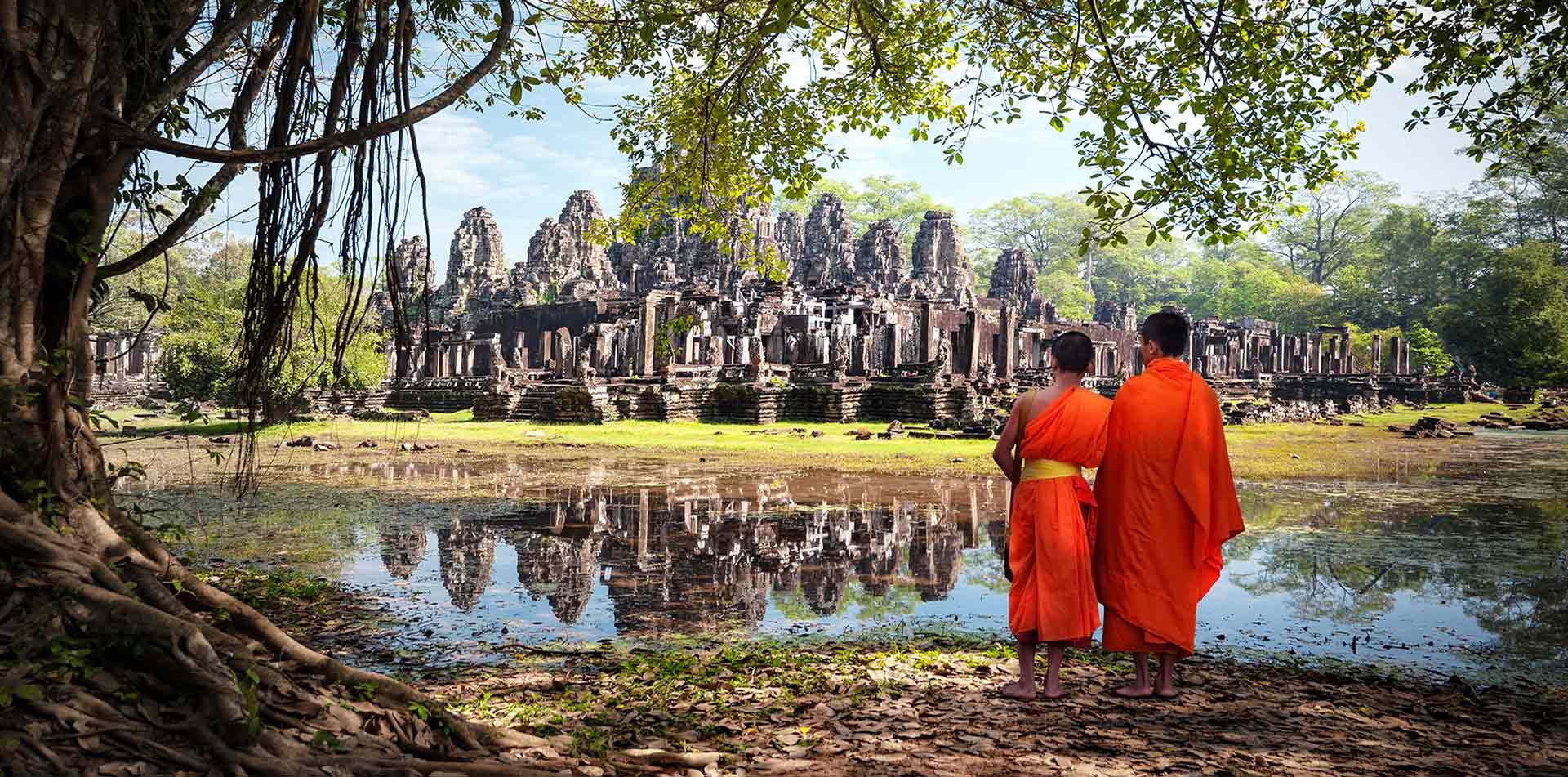 Bhuddist Monks at Angkor Wat, Cambodia
