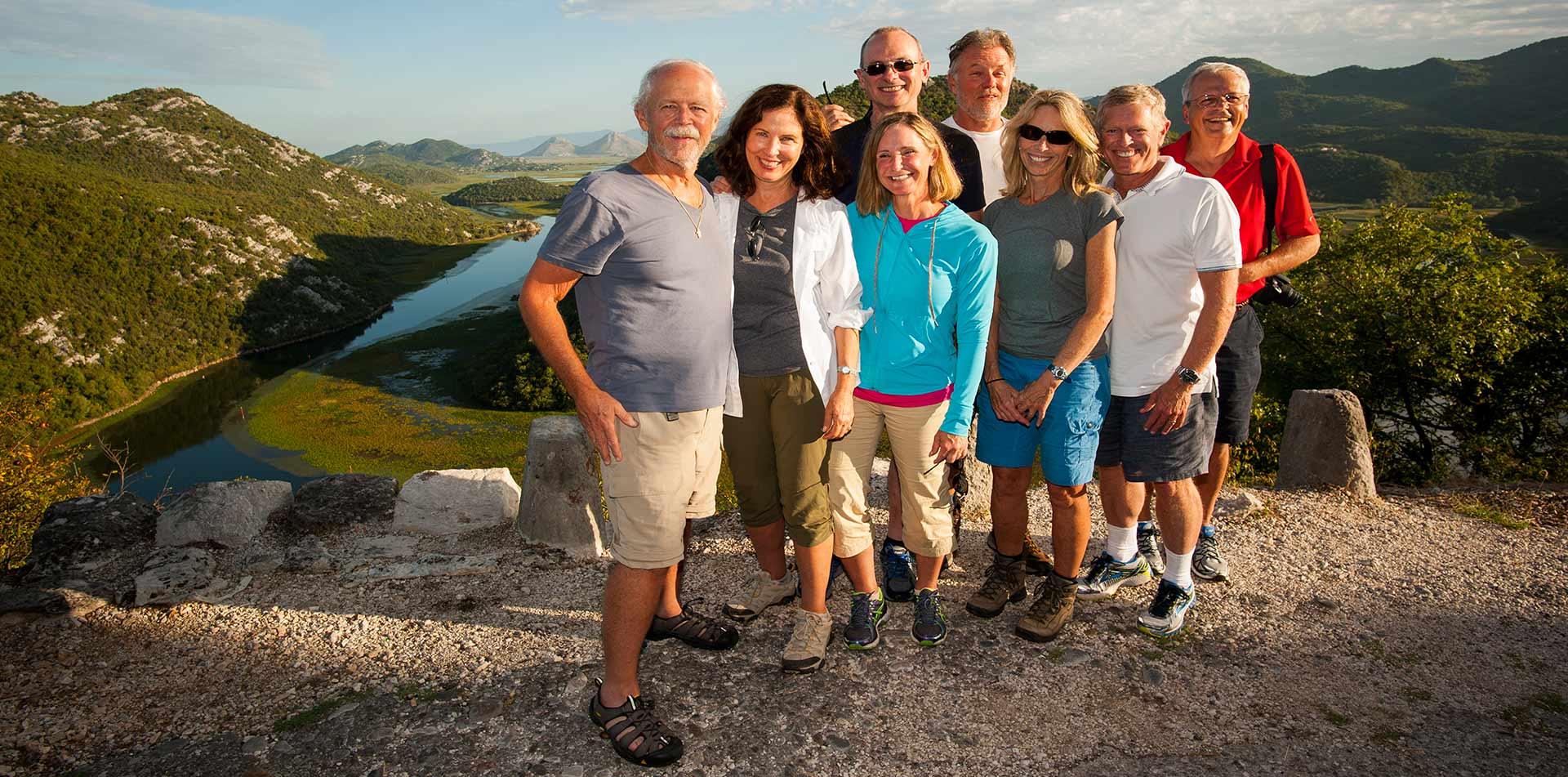 Group of Travelers in Montenegro