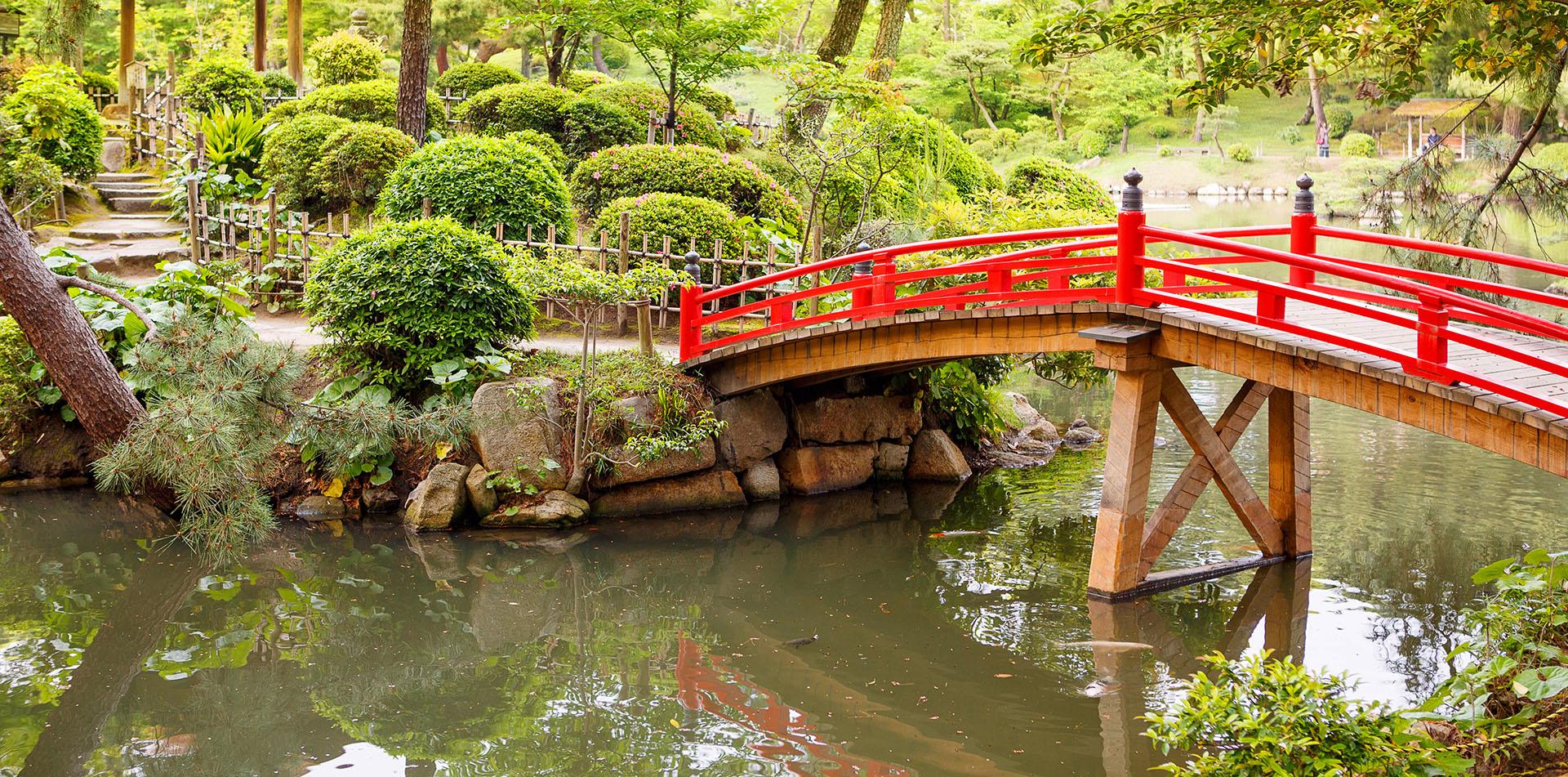 Shukkeien Garden in Hiroshima, Japan