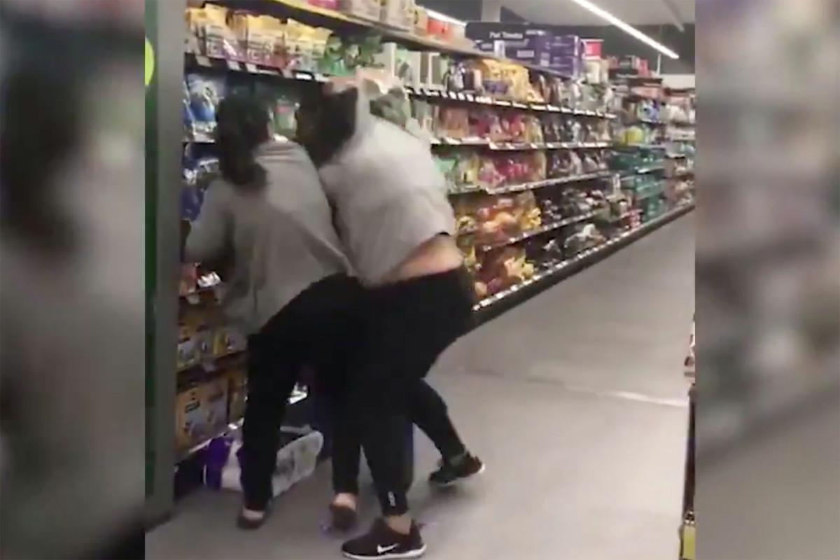 Women fight over toilet paper during coronavirus panic buying in Australia