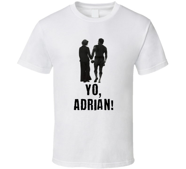 Rocky Yo Adrian In Quote Bubble Adult T Shirt Classic Movie