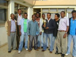 Fh Eth staff and trophy