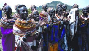 Kenyan women singing