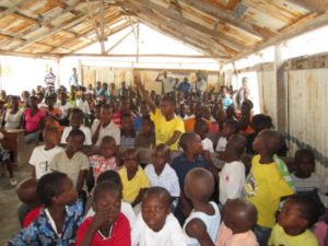 WATER training kids on cholera and hygiene