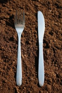 Many people in developing countries store their tableware in the dirt.