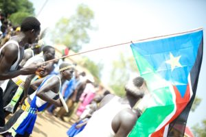 South Sudan flag at independence