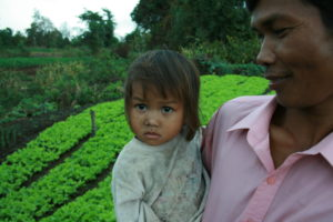 Cambodian Farmer and Daughter