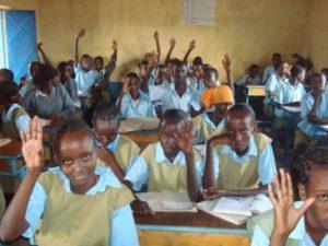 Kenyan girls in class