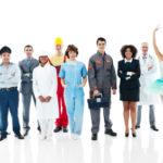 Diverse professions
