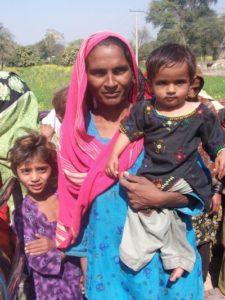 pakistani woman and children