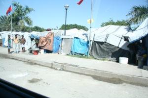 Tent cities in Haiti