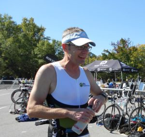 Dave Evans ran, swam and bicycled to raise funds for FH programs