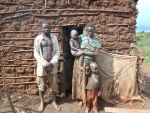 Mutabazi and Esperance Berchmans struggle to survive with their two surviving children, Nijember (5) and Uwizayimana Janvier (2)