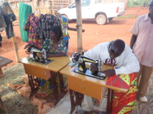 Sewing livelihood group in action