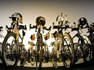 Photo of bikes lined up