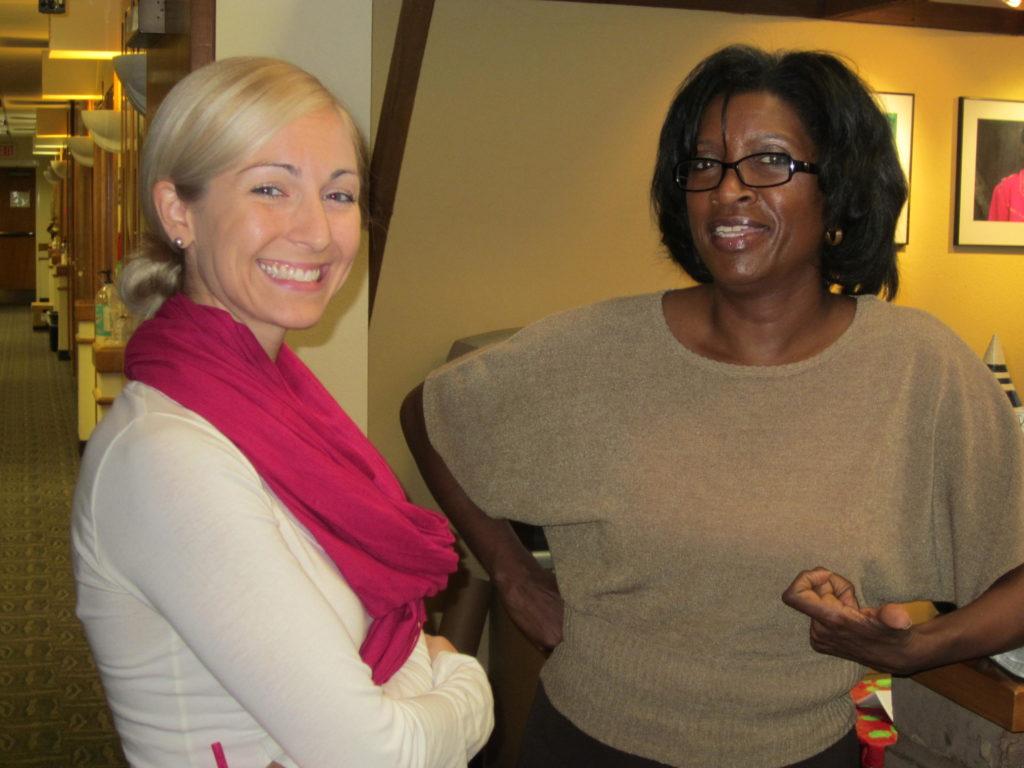 Karla Lipari, Administrative Assistant and Barbara Chapman, Executive Assistant.