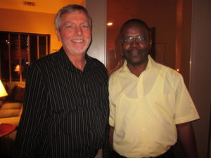 Ben Hoogendoorn, President of Food for the Hungry Canada and Yves Habumugisha, Country Director South Sudan