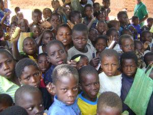 Sponsored children in Mozambique