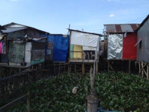 Catmon Malabon is a poor community built on stilts over sewage
