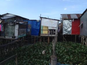 Catmon Malabon is a poor community built on stilts over sewage