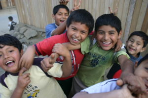 Children like these have fun while learning biblical values at FH Kid's Clubs in Peru.