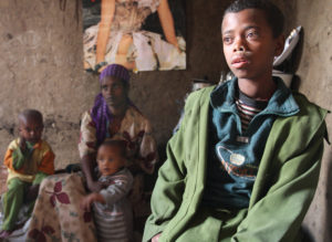 This Ethiopian boy contracted HIV through mother-to-child transmission. He sat listless while we visited.