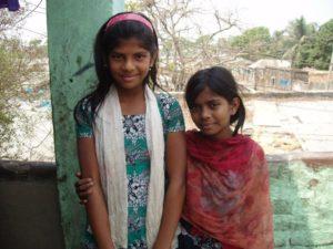 Rhaki is my sponsor child (right) with her best friend Lota.