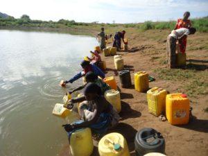 Fetching water in Kenya