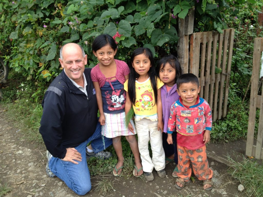 Tim Smith with FH Sponsored Children in Guatemala