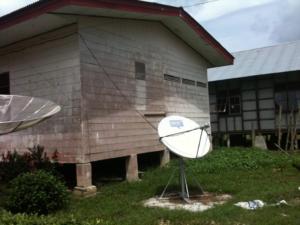 Satellite dish in Africa