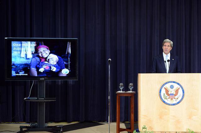 John Kerry at PEPFAR meeting