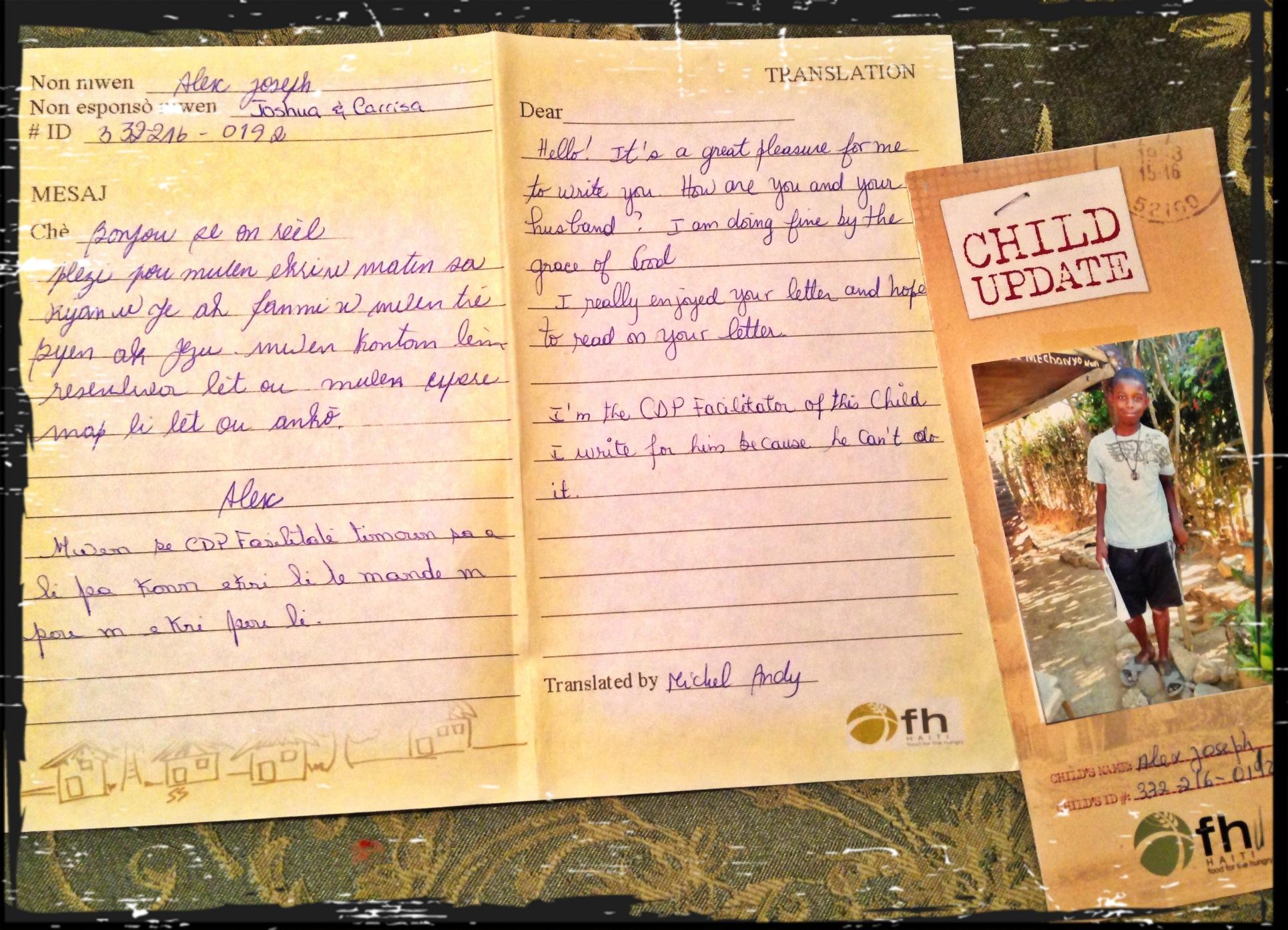Letter to Sponsor Child Sponsor Letter 3 Ways to Give