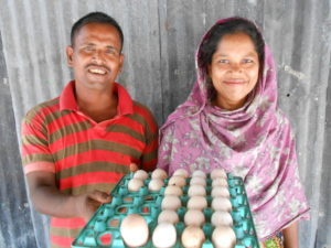 Rashida and her husband.