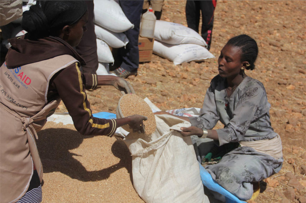 Food distributions are getting people through the Hunger Gap.