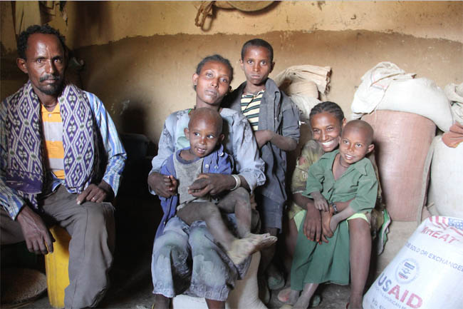 Families like this are caught in the Hunger Gap for six months a year!