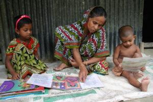 Ashiya with her grandchildren
