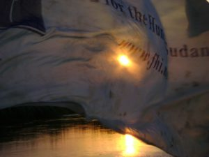 FH flag on boat