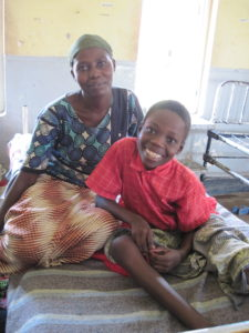 Beneficiary Enos Wasangai in Uganda, Africa broke his leg and FH funded his much needed medical treatment and surgeries