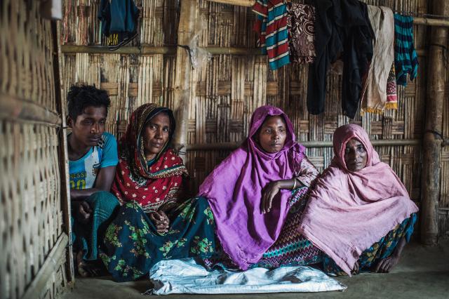 Rohingya refugee family in Cox's Bazar, Bangladesh, December 2018.