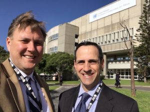 Shep Owen and Lucas Koach at corporate partnerships conference in Kenya.