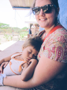 Charith Denson with her sponsored child, Patricia, in Nicaragua in 2012.